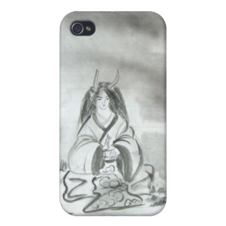 Meditating Oni iPhone Case iPhone 4 Covers