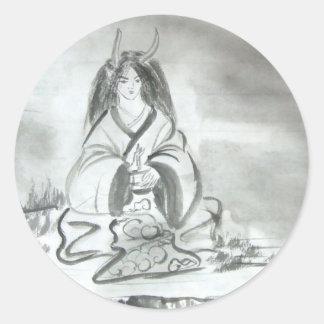 Meditating Oni Stickers