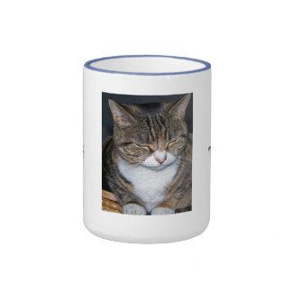 Meditating or Thinking Cat Mug