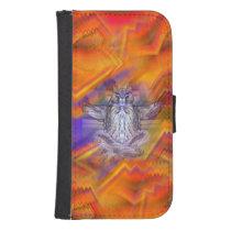 Meditating Owl Floating Rest Balance Art Galaxy S4 Wallet Case