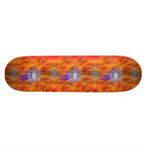Meditating Owl Floating Rest Balance Art Skateboard