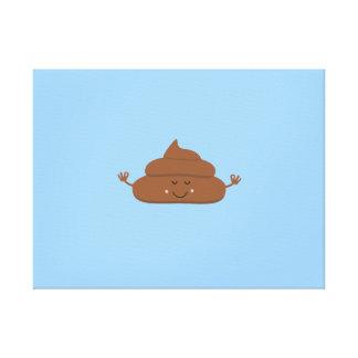 Meditating poo canvas print