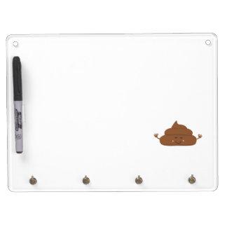 Meditating poo Dry-Erase whiteboard