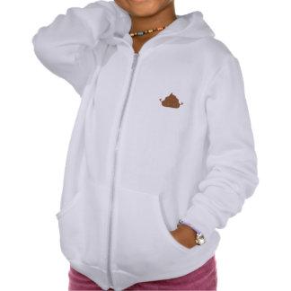 Meditating poo hooded pullover