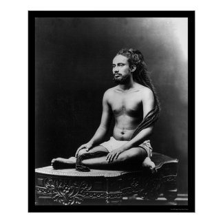 Meditating Priest in India 1898 Posters