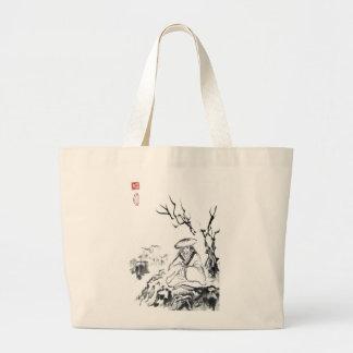 Meditating Samurai Art Tote Bag