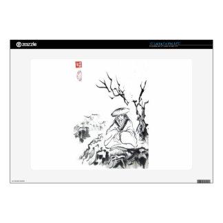 Meditating Samurai Art Laptop Skins