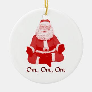 Meditating Santa Ornament