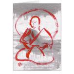 Meditating Shaolin Monk Blank Card