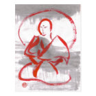 Meditating Shaolin Monk Postcard