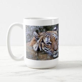Meditating Tiger Classic White Coffee Mug