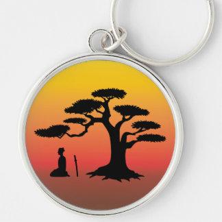 Meditating Under Tree - Premiu Key Chain
