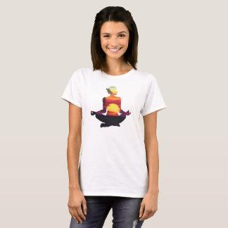 Meditating Yogi, Yoga Pose Silhouette T-Shirt
