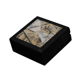 Meditation Abstract in Black and White Jewelry Box