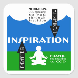 Meditation and Prayer Square Sticker