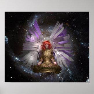 Meditation Angel. Poster