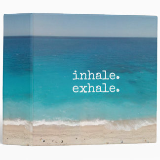 Meditation Beautiful Paradise Beach Binder