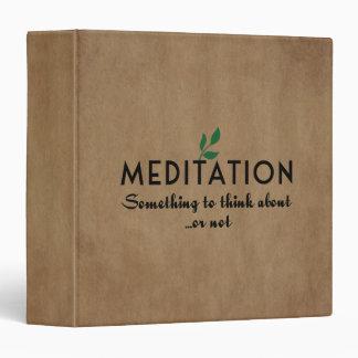 Meditation Binder