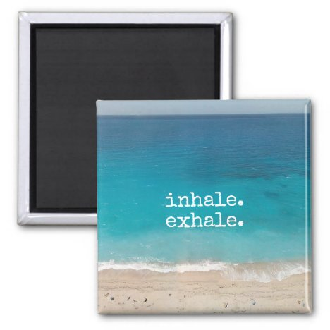 Meditation Breath Beautiful Beach Magnet