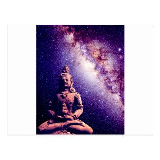 Meditation Buddha Galaxy Space Peace Love Art Postcard