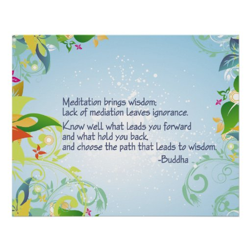 Meditation Buddha Print