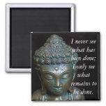 Meditation Buddha Quote.. Refrigerator Magnet