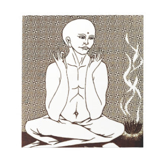 """""""Meditation"""" by E. Lewis Evans Notepad"""