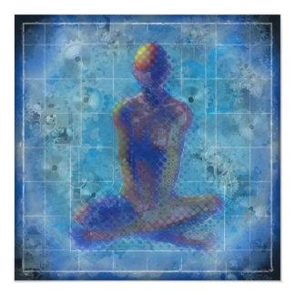 """Meditation by T.Orr 5.25"""" Square Card & Envelope"""