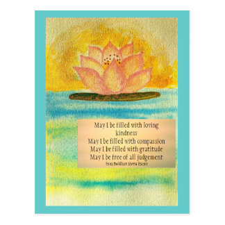 Meditation Card/ Buddhist Metta prayer Postcard