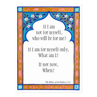 Meditation card to nourish the spirit postcard