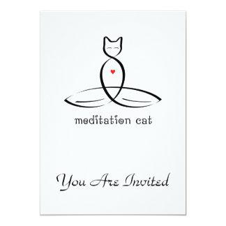 Meditation Cat - Fancy style text. Card