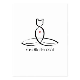 Meditation Cat - Regular style text. Postcard