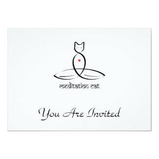 Meditation Cat - Sanskrit style text. Card