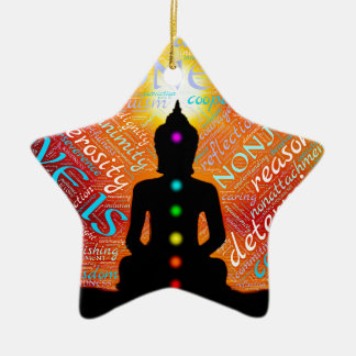 Meditation Ceramic Ornament