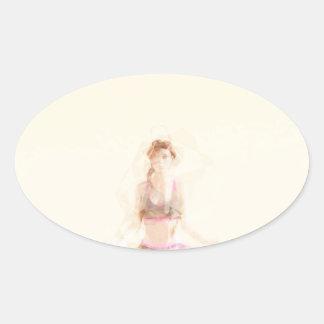Meditation Concept Oval Sticker