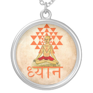 Meditation- Dhyāna Round Pendant Necklace