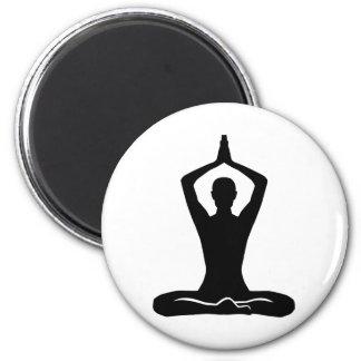 Meditation exercise 2 inch round magnet