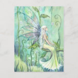 Meditation Fairy Illustration Art Postcard