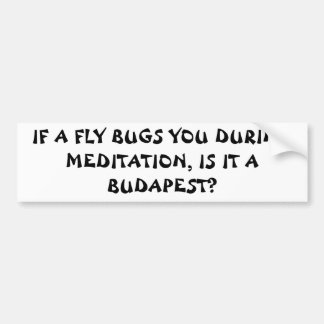 Meditation Fly Budapest? Fortune Cookie Style Bumper Sticker