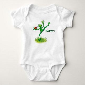 Meditation frog baby bodysuit