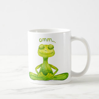 Meditation frog coffee mug