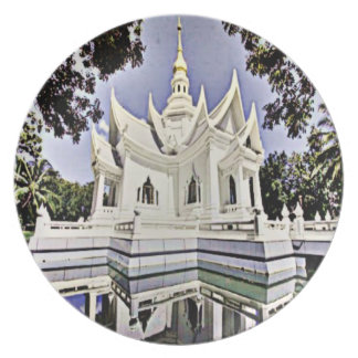 Meditation Hall Melamine Plate