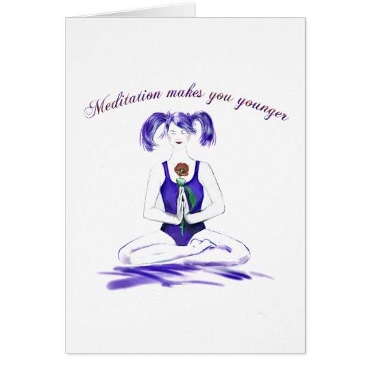 Meditation Humorbirthday Card – Humor Birthday Card