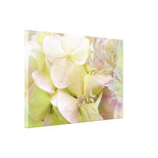 Meditation Hydrangea floral canvas art Canvas Prints