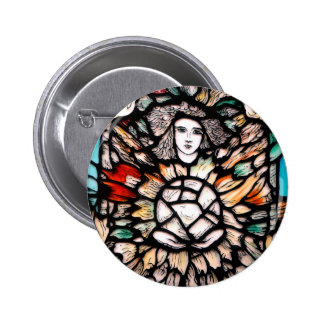 Meditation in colors. 2 inch round button