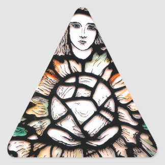 Meditation in colors. triangle sticker