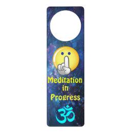 MEDITATION IN PROGRESS DOOR HANGER