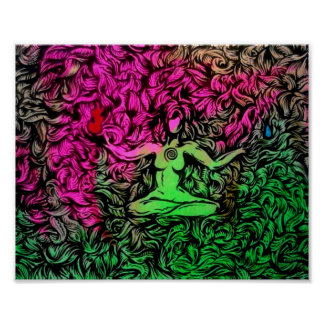 Meditation in the dark of light Poster
