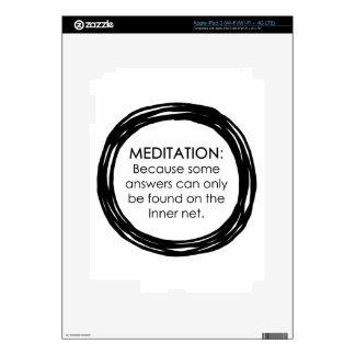 Meditation Inner Net iPad 3 Decals