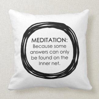 Meditation Inner Net Throw Pillow